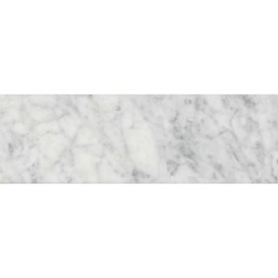 Carrara White 4X12 Polished Subway Marble Tile