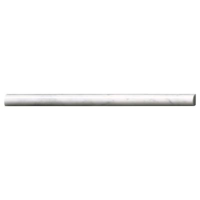 Carrara White Pencil 3/4x12 Polished Molding
