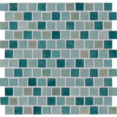 Carribean Jade 1X1 Staggered Glass Pool TIle