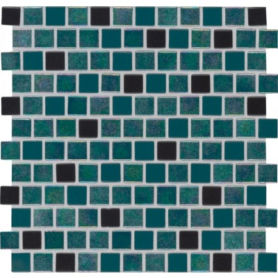 Carribean Mermaid 1X1 Staggered Glass Pool TIle
