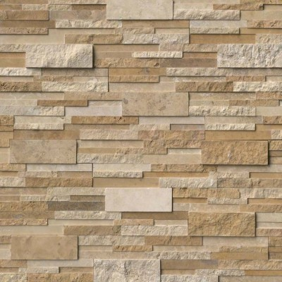 Casa Blend 6x24 3D Multi Finish Ledger Panel