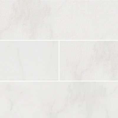 Classique White Carara 4X16 Mix Finish Subway Tile