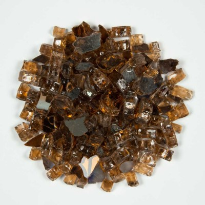 Copper Brown 1.27 CM 10 LBS Crystal Reflective Fireglass