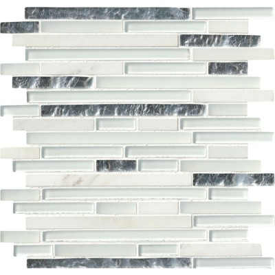 Cristallo Interlocking Pattern Glass Mosaic