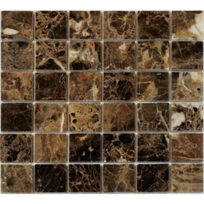 Spanish Emperador Dark 2x2 Polished Marble Mosaic