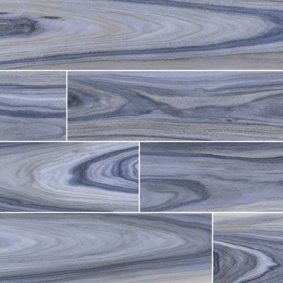 Dellano Exotic Blue Polished Wood Look Porcelain Tile