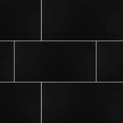 Domino Black 12X24 Matte