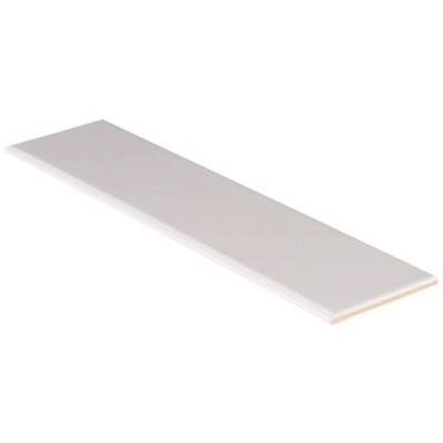 Domino White Glossy 4X16 Single BullNose
