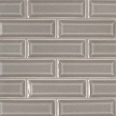 Dove Gray 2x6 Bevel Subway Ceramic Tile