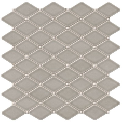 Dove Gray Diamond 12X12 Glossy Mosaic