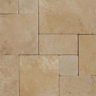 Durango Cream French Pattern 16 Sft x 10 Tumbled Pavers