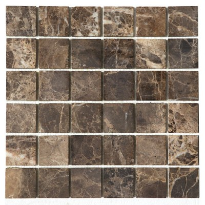 Emperador Dark 2x2 Honed Mosaic