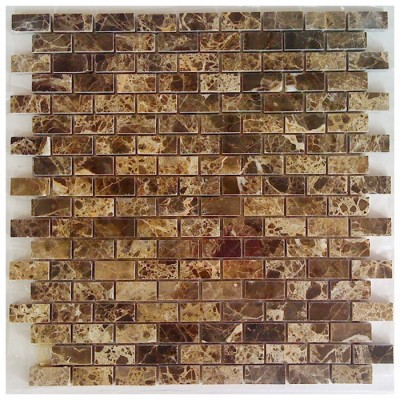 Emperador Dark Mini Brick 12x12 Polished