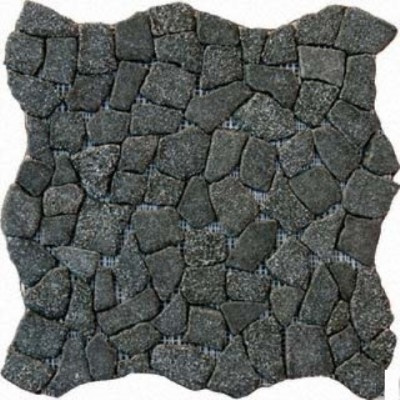 Flat Charcoal Pebbles 16X16 Natural Pebbles