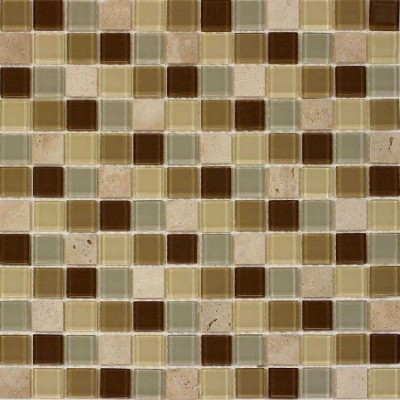 French Brown Glass Mix 1x1 Mosaic