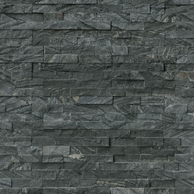 Glacial Black 6X24 Split Face Ledger Panel