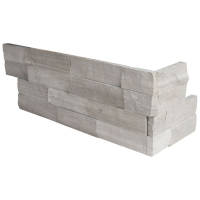 Gray Oak 6X12X6 Splitface Corner Ledger Panel