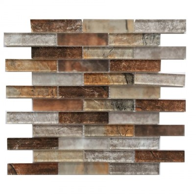 Grey Umber 12x12 Glass Mosaic