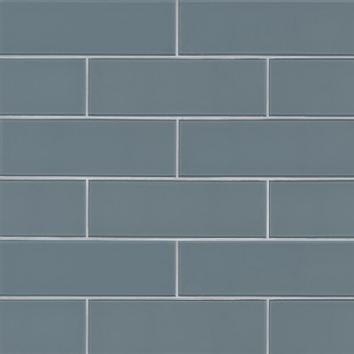 Harbor Gray 4x12 Glass Subway Tile
