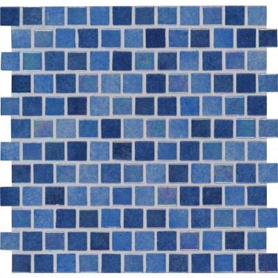 Hawaiian Sky 1X1 Staggered Glass Pool Tile