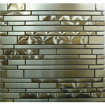 Stainless Steel 11.75x14 Interlocking Mosaic