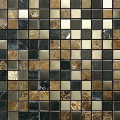 Siberian Brown 1x1 Honed / Polished Blend Mosaic