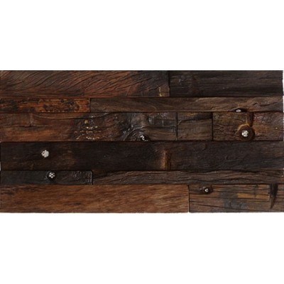 Heritage 3D 12x24 Antique Wood Panel Mosaic