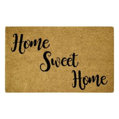 Home Sweet Home Black Natural Coir 18X30 Door Mat