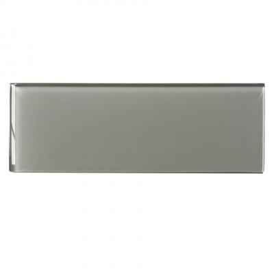 Ice Grey 4x12 Glossy Glass Subway Tile