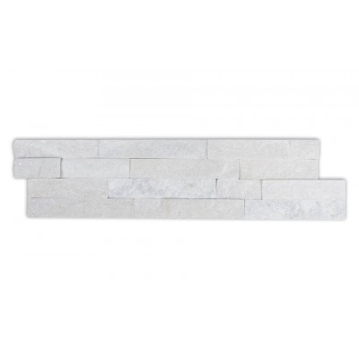Laizhou White Quartzite 6x24 Ledger Panel Split Face