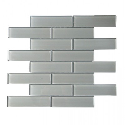 Space Grey Linen 12X12 Polished Glass Mosaic