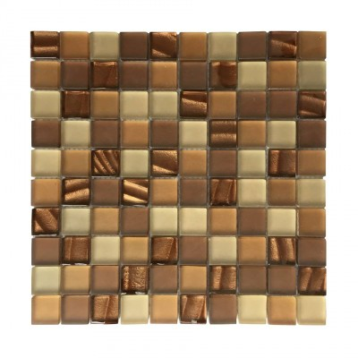 Metro Mod Crystallized 1x1Glass Mix Mosaic