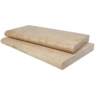 Mocha 16X24 Tumbled One Long Side Bullnose Pool Coping