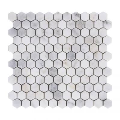 Oriental White 1x1Hexagon Honed Mosaic