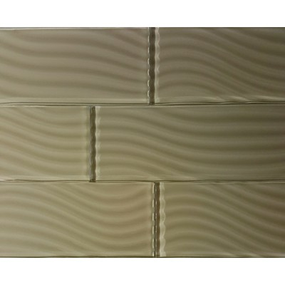 Pacific Collection Rye 4x12 Glossy Glass Subway Tile