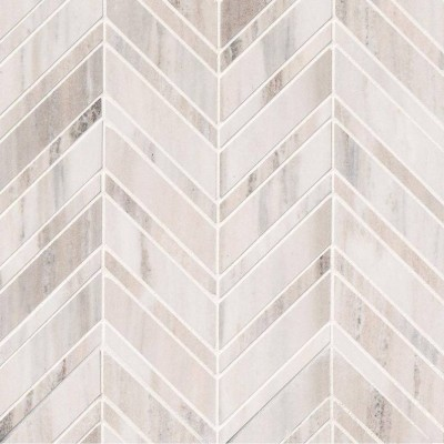 Palisandro Chevron 12x12 Polished Pattern Mosaic