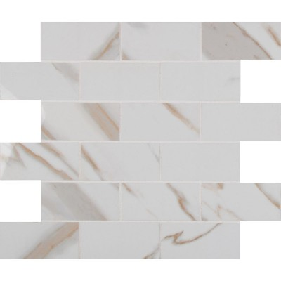 Pietra Calacatta 2X4 Polished Mosaic