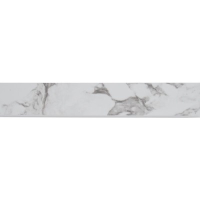 Pietra Statuario 3X18 Polished Bullnose
