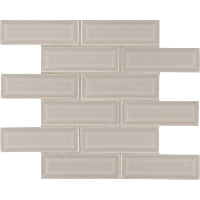 Portico Pearl 2x6 Bevel Subway Ceramic Tile