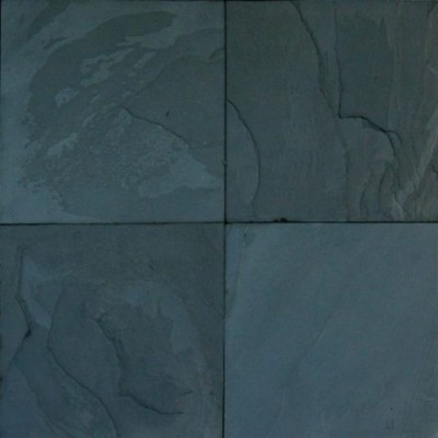 Premium Black Classic 16x16 Gauged Slate Tile