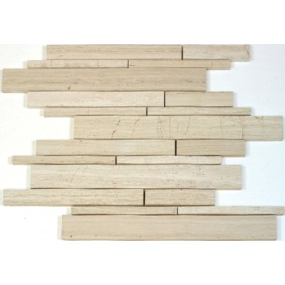 Wooden White 12x12 Interlocking Mosaic