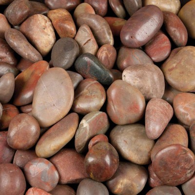 Red Polished 2-3 CM Beach Pebbles