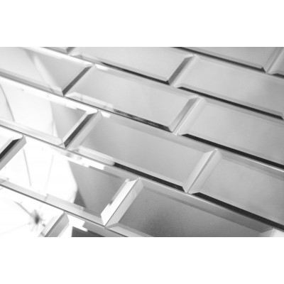 Reflections Silver 3X6 Polished Glass Tile