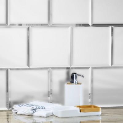 Reflections Silver 8X8 Matte Glass Tile