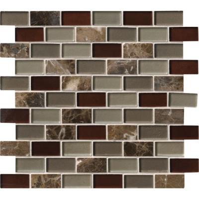 Royal Canyon 1x2x8mm Pattren Blend Mosaic Wall Tile