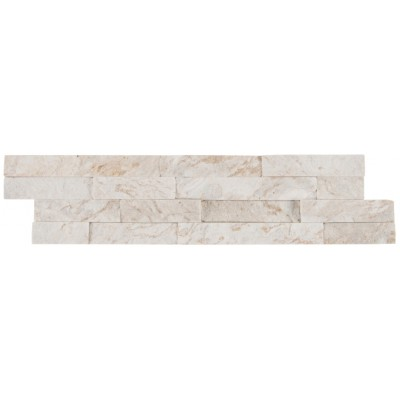 Royal White 6X24 Split Face Ledger Panel