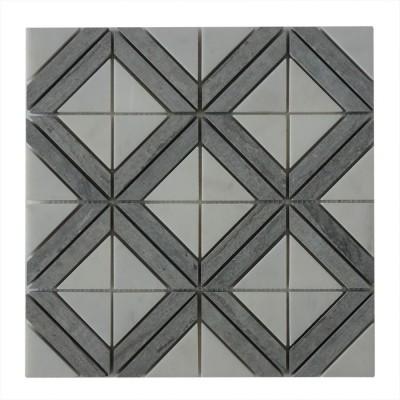 Rubik Square Pattern 12x12 Polished Mosaic