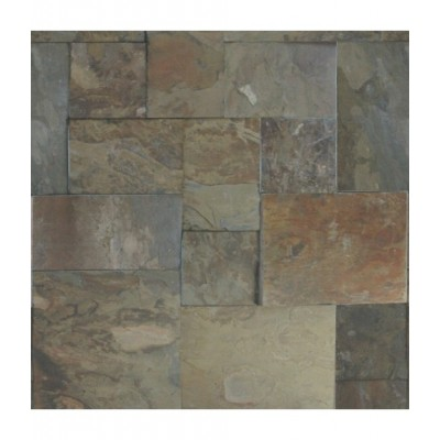 Rustic Gold 10sqft Mini Pattern Gauged  Slate Tile