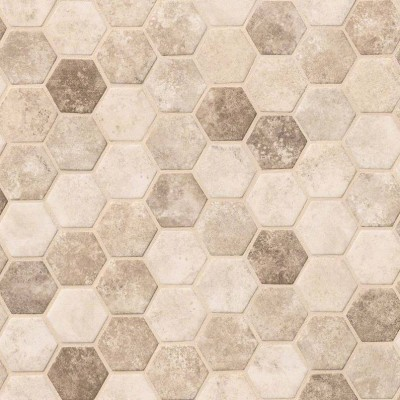 Sandhills Hexagon Pattern Recycled Glass Mosaic