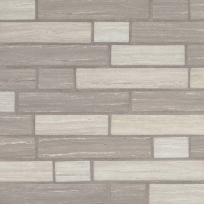 Silva Oak Interlocking Pattern Recycled Glass Mosaic